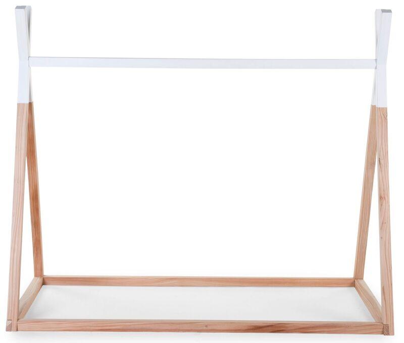 Lit enfant Tipi 70 x 140 cm Naturel/Blanc Childhome Frontal