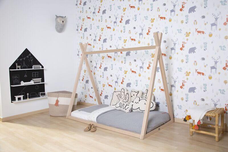 Lit enfant Tipi 70 x 140 cm Naturel Childhome Ambiance