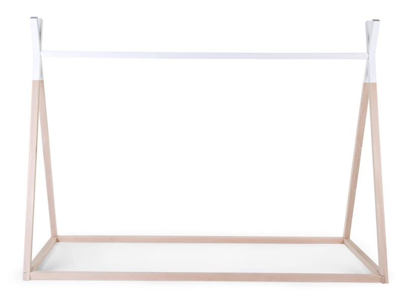 Lit enfant Tipi 90 x 200 cm Naturel/Blanc Childhome Produit Latéral