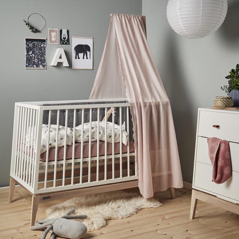 Lit Luna 60 x 120 Chêne / Blanc Leander Chambre