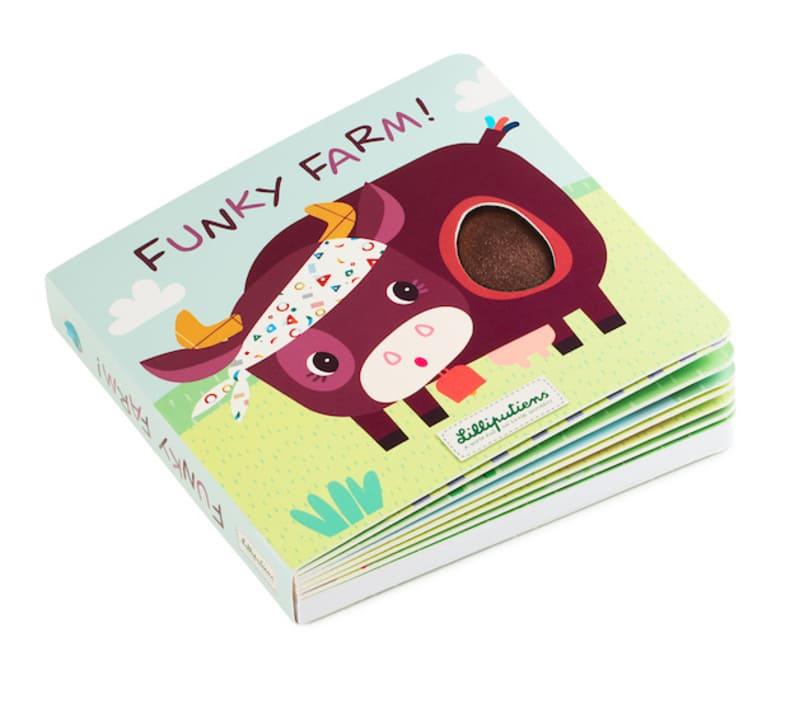 Livre tactile et sonore Funky Farm Lilliputiens 1