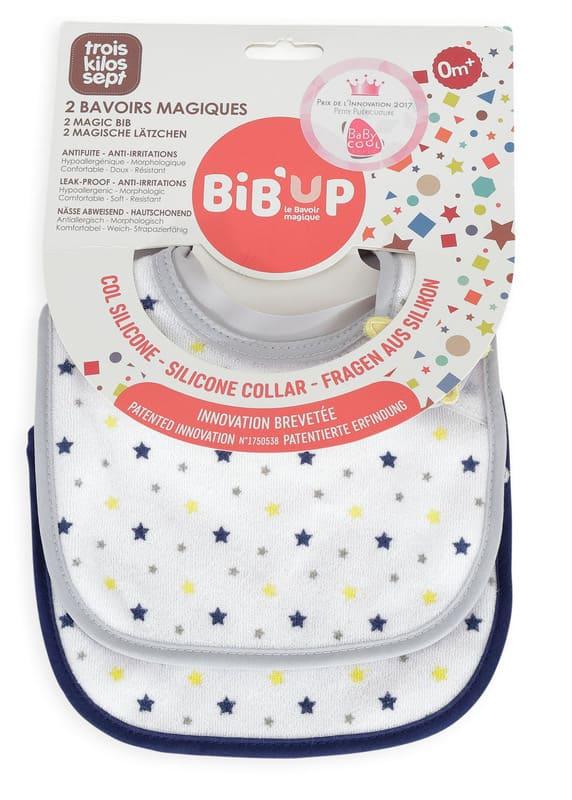 Lot de 2 bavoirs naissance Bib'Up Trois Kilos Sept Packaging