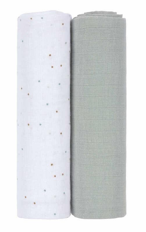 Lot de 2 langes About Friends Raton laveur 120 x 120 cm Lassig Produit