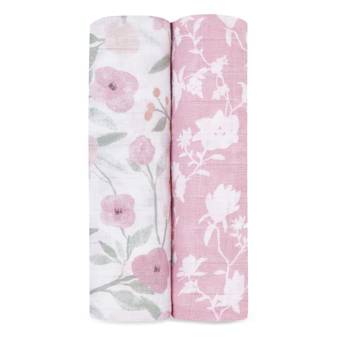 Lot de 2 maxi langes Cotton Muslin 120 x 120 cm Ma Fleur Aden + Anais Produit
