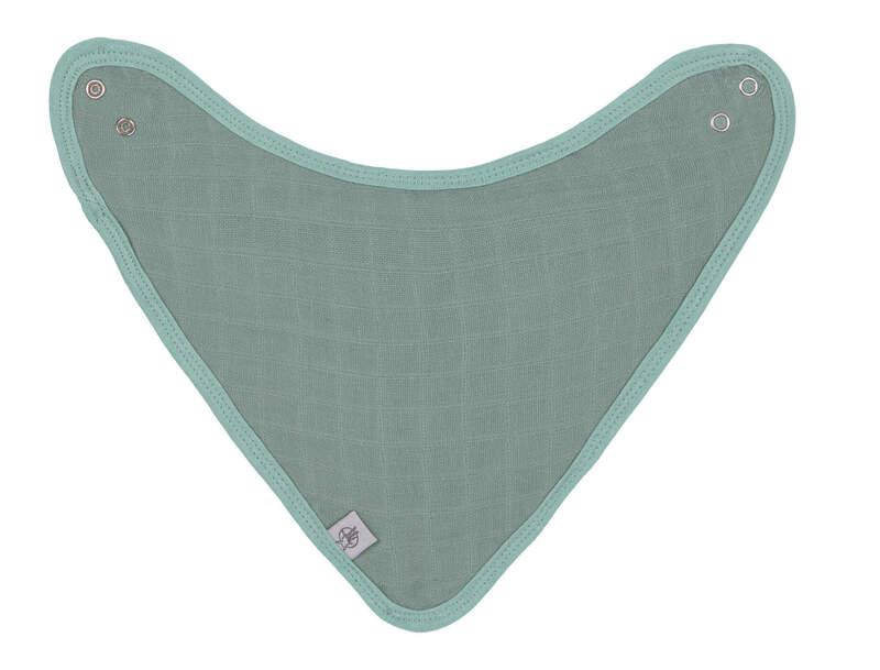 Lot de 3 bavoirs bandana en mousseline Lassig Vert arrière