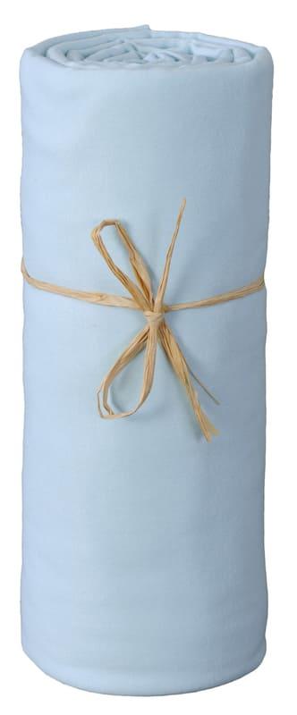 Lot 3 draps housse coton Bleu Ciel P'tit Basile Simple