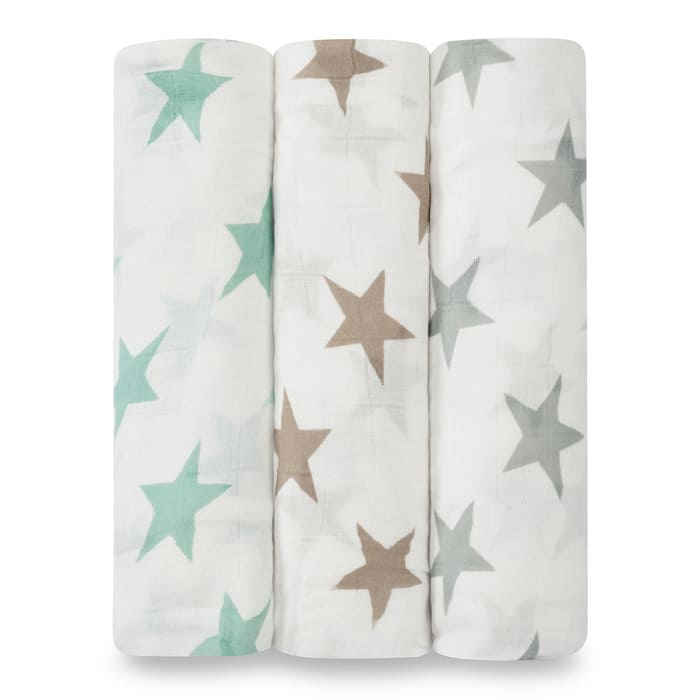 Lot de 3 Maxi Langes 120 x 120 cm Silky Soft - Milky Way Aden + Anais 1