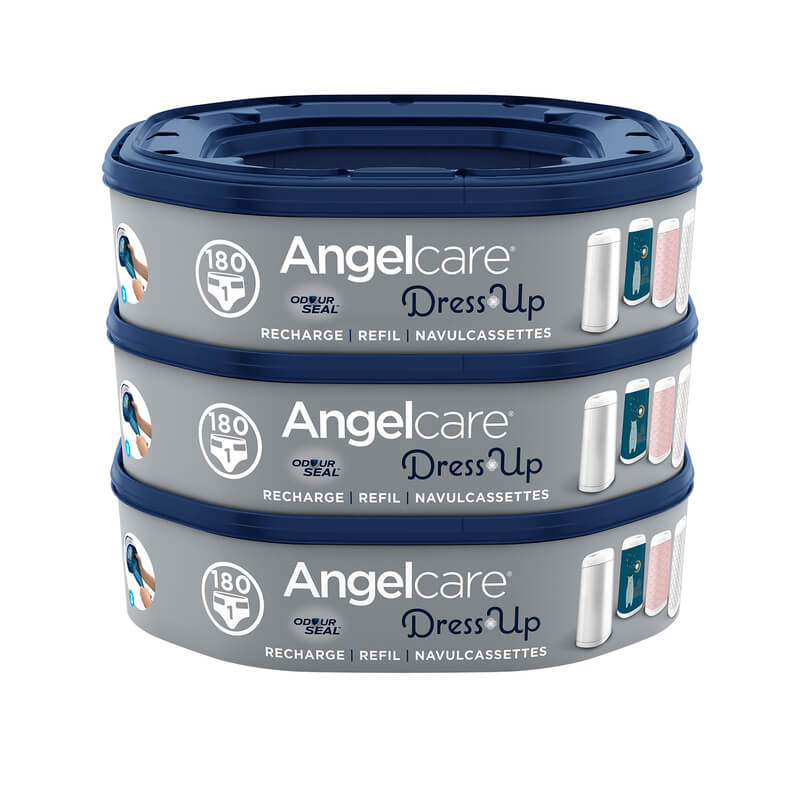 Recharges octagonales pour poubelle à couches Dress Up Angelcare Lot