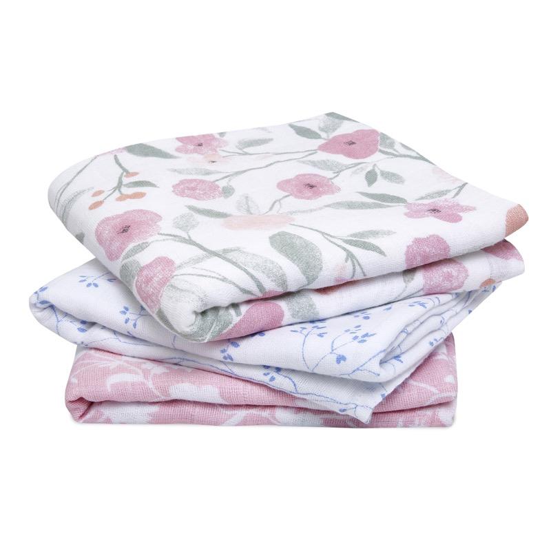 Lot de 3 langes Cotton Muslin 70 x 70 cm Ma Fleur Aden + Anais Produit