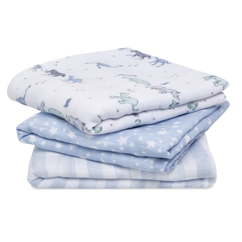 Lot de 3 langes Cotton Muslin 70 x 70 cm Rising Star Aden + Anais Produit