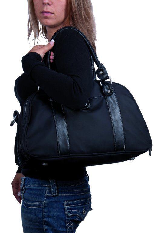 Sac a langer Glam satine black accessoires amenagement Lassig Bambinou