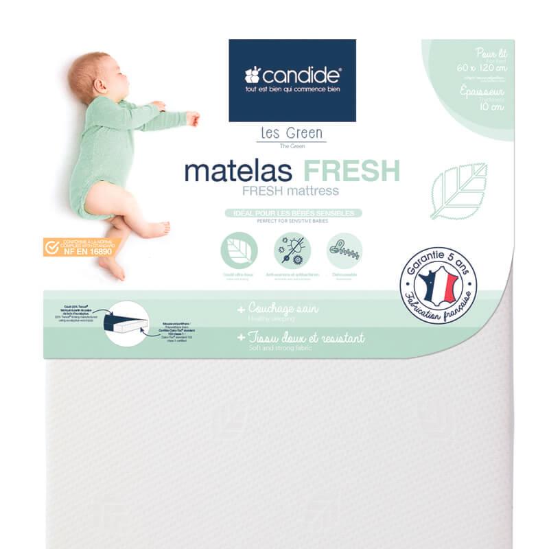 Matelas Fresh déhoussable lit bébé 60x120 Candide Détail