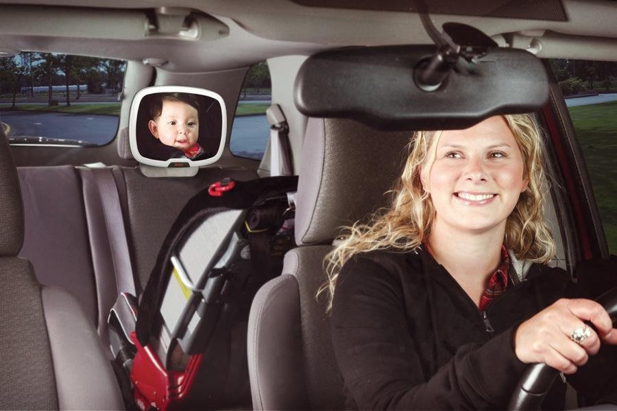 Miroir de surveillance de voiture jour et nuit Easy View Plus silver Diono parent