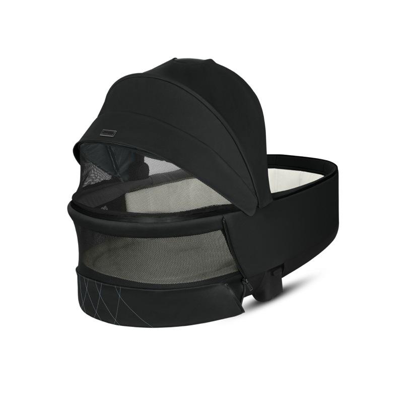 Nacelle de Luxe poussette Priam premium black Cybex aération