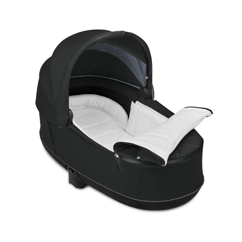 Nacelle de Luxe poussette Priam premium black Cybex matelas