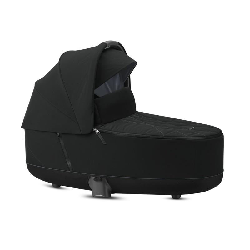 Nacelle de Luxe poussette Priam premium black Cybex canopy