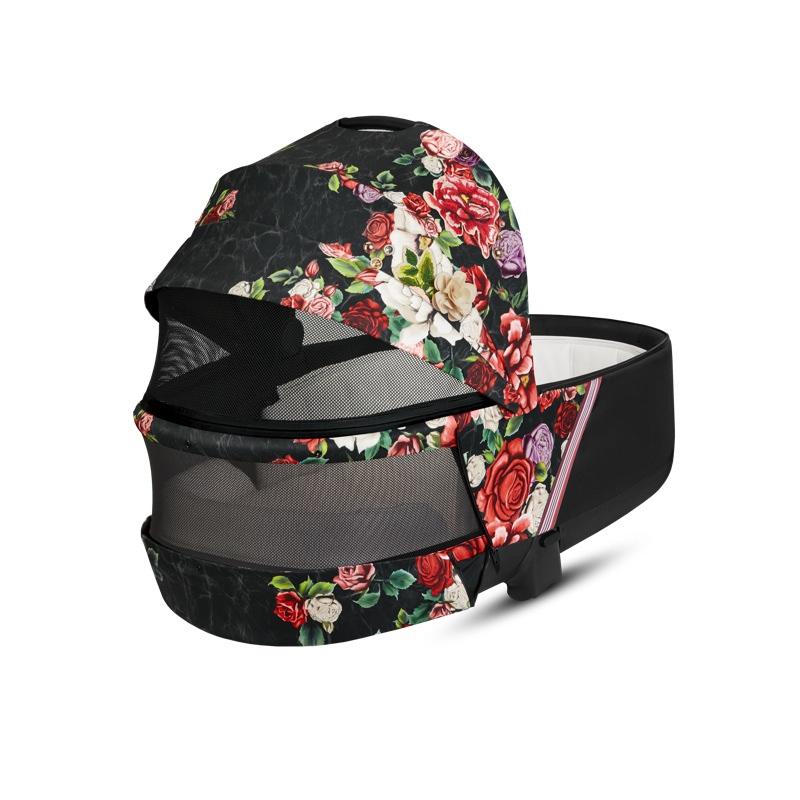 Nacelle luxe poussette Priam édition spéciale Spring Blossom Dark Cybex ouverture