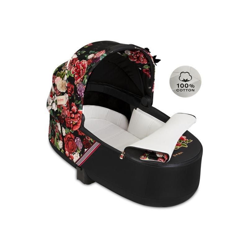 Nacelle luxe poussette Priam édition spéciale Spring Blossom Dark Cybex intérieur