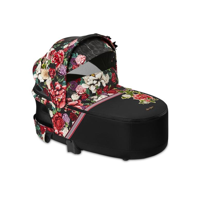 Nacelle luxe poussette Priam édition spéciale Spring Blossom Dark Cybex visière