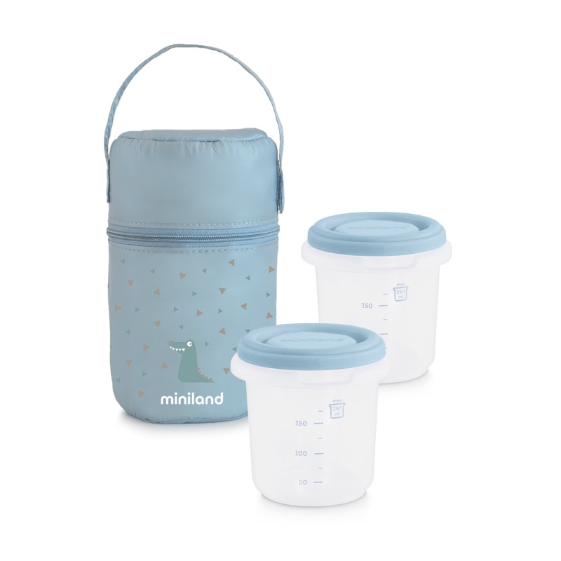 Pack 2 go hermisized sac isotherme et récipients rond bleu 1