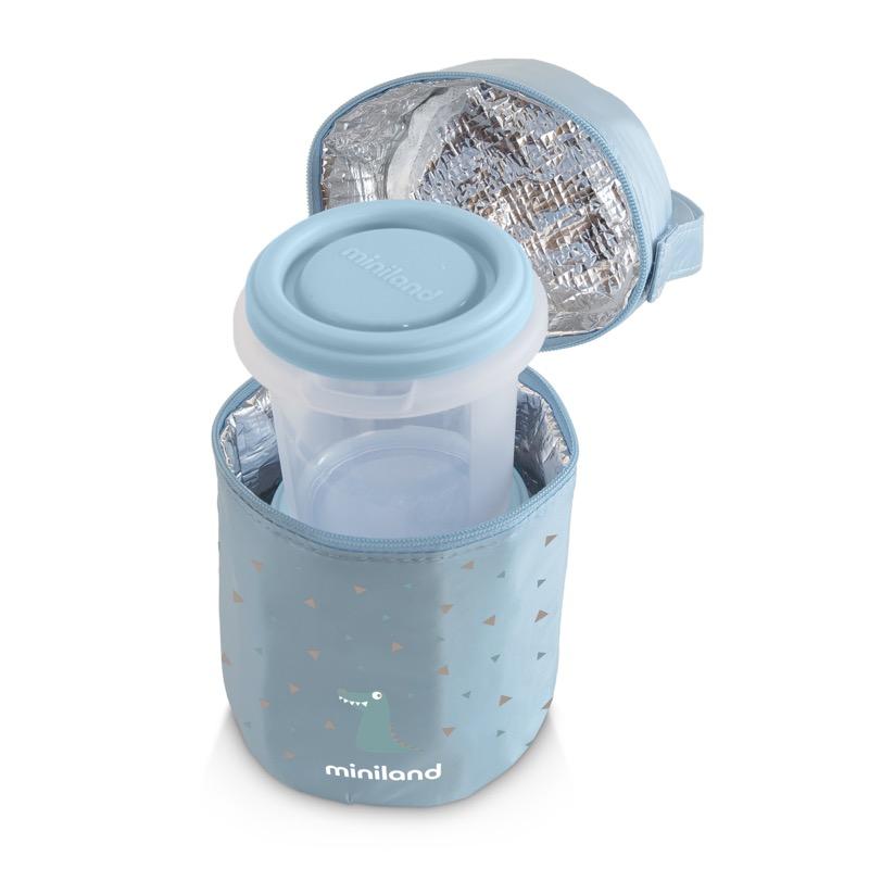Pack 2 go hermisized sac isotherme et récipients rond bleu 3