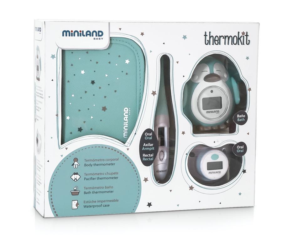 Pack de 3 thermomètres bébé Thermokit bleu Miniland pack