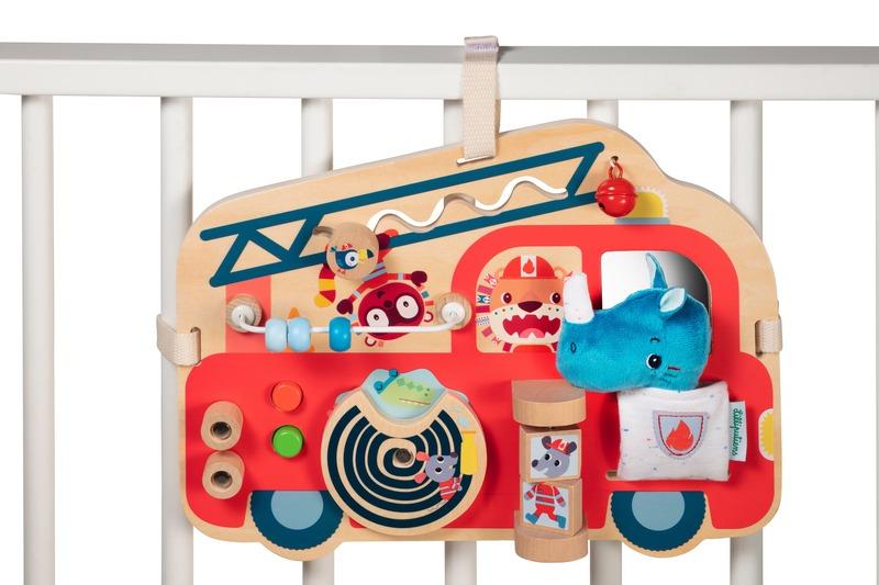 Panneau d'activités Camion de pompier Lilliputiens Accroché