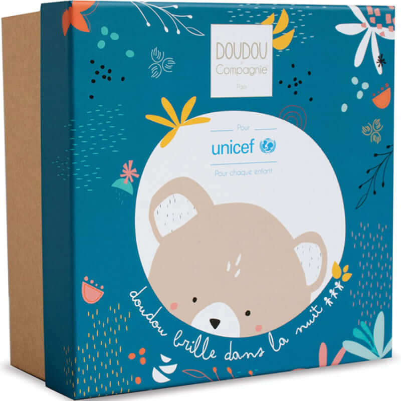 Peluche musicale ours luminescent Unicef Boite