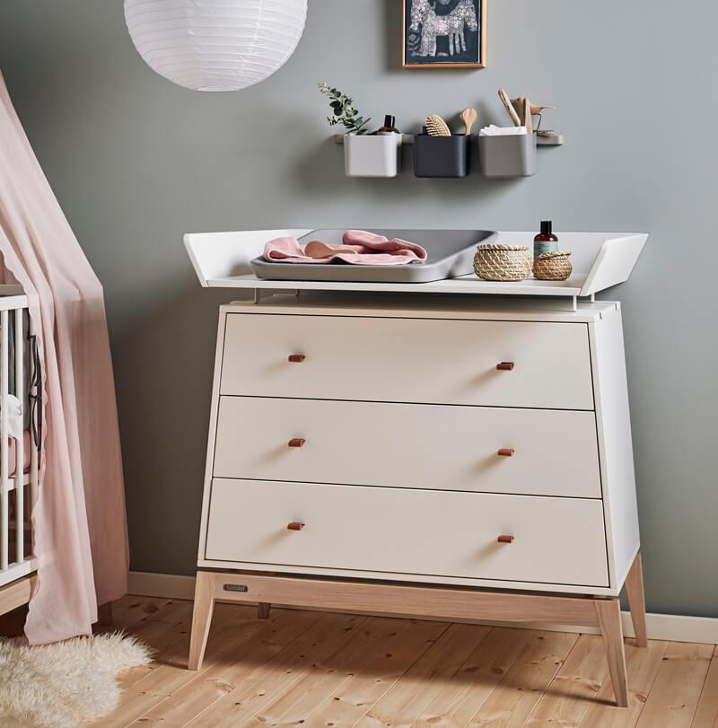 Chambre Luna Blanc : lit, commode, armoire Leander Commode Soin bébé