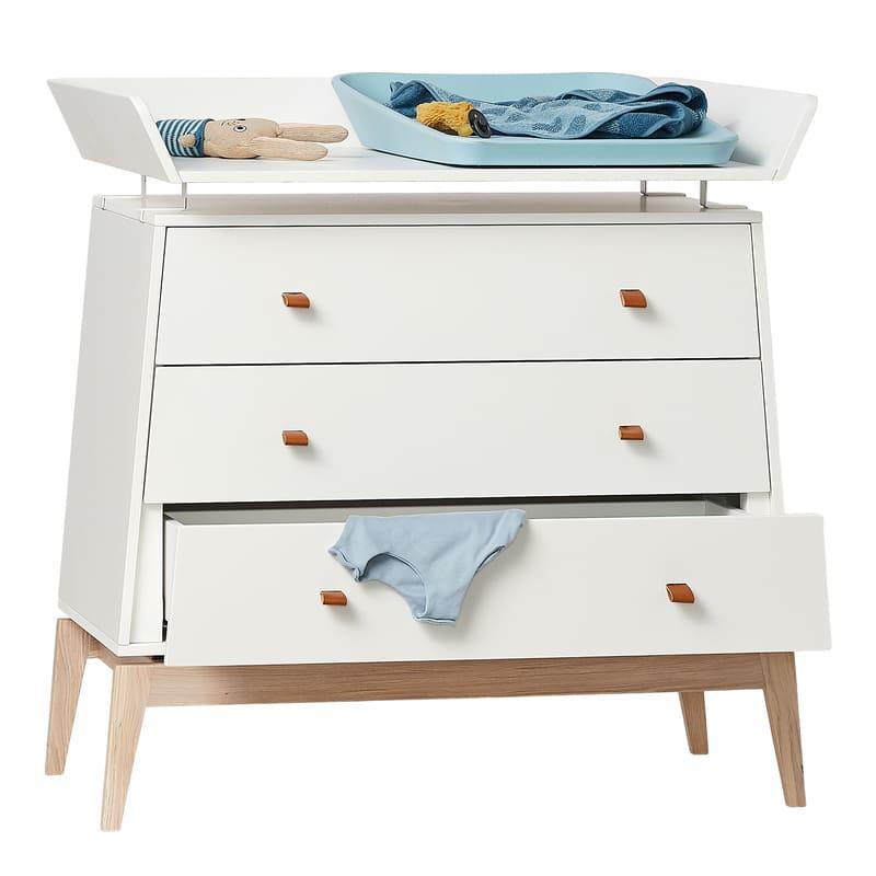 Chambre Luna Blanc : lit, commode, armoire Leander Commode Table à langer
