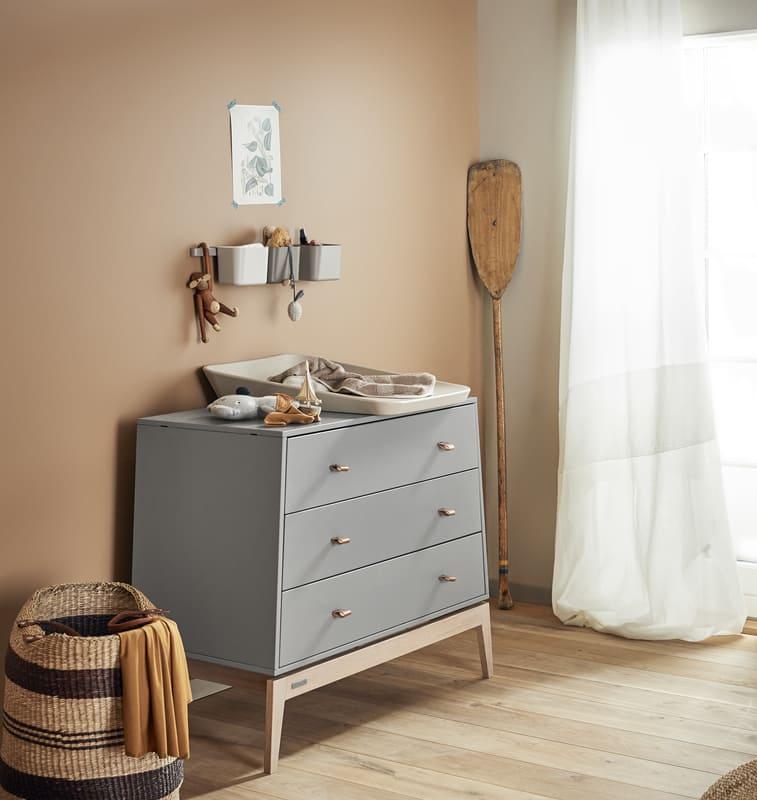 Commode Luna Chêne / Gris Leander Chambre
