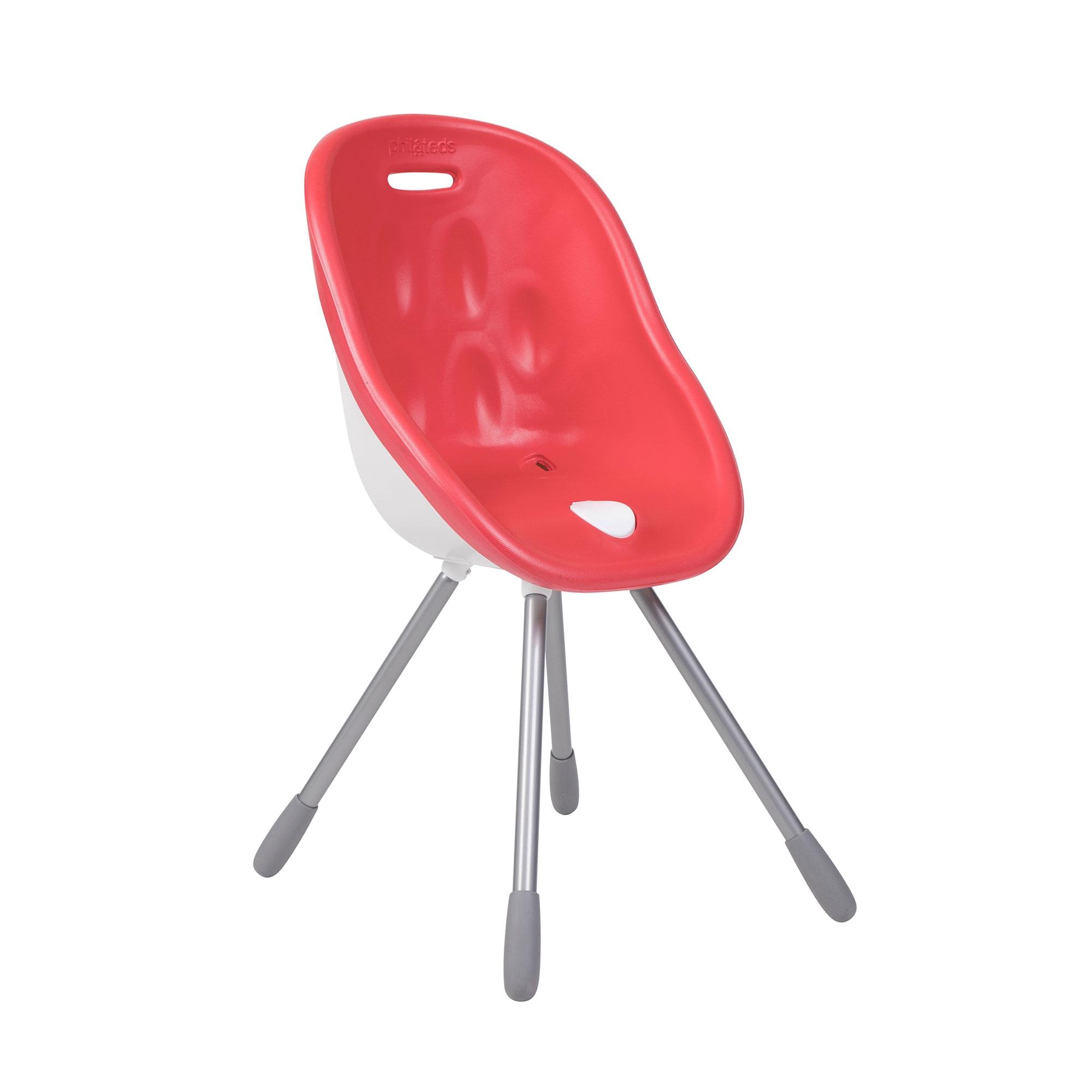 Chaise haute évolutive 2-en-1 Poppy Phil&Teds Cranberry mode ma chaise