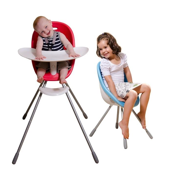Chaise haute évolutive 2-en-1 Poppy Phil&Teds présentation des deux modes avec enfants