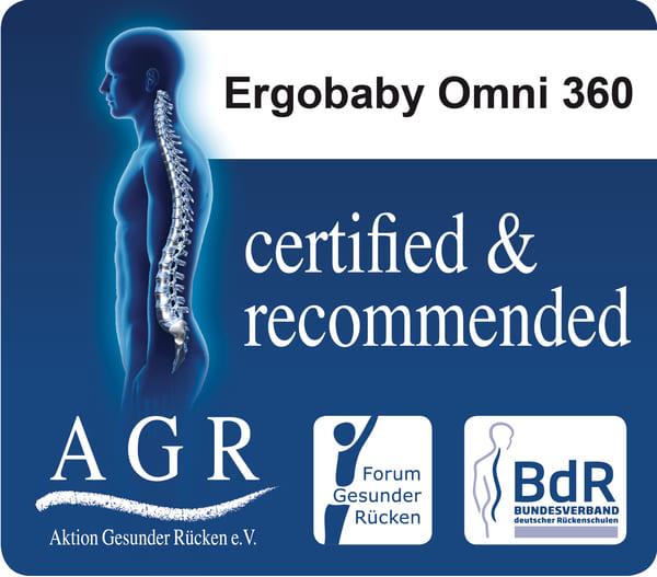 Porte-Bébé Omni 360 Tout-En-Un Cool Air Mesh Ergobaby Certification