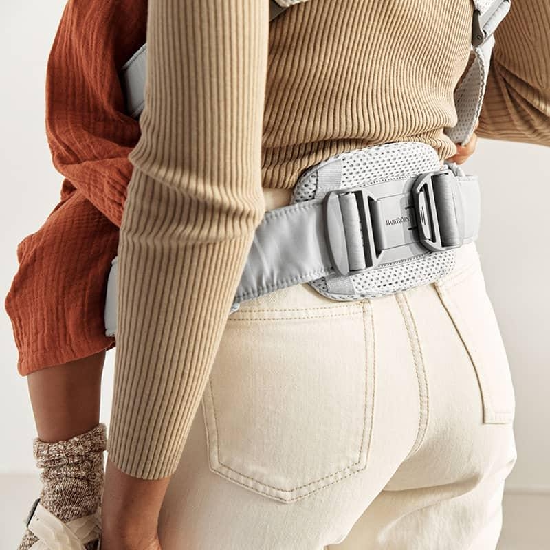 Porte-bébé Harmony Mesh 3D Argent BabyBjorn ceinture