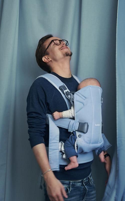 Porte-bébé One Coton mix Light Denim Blue Babybjorn Produit