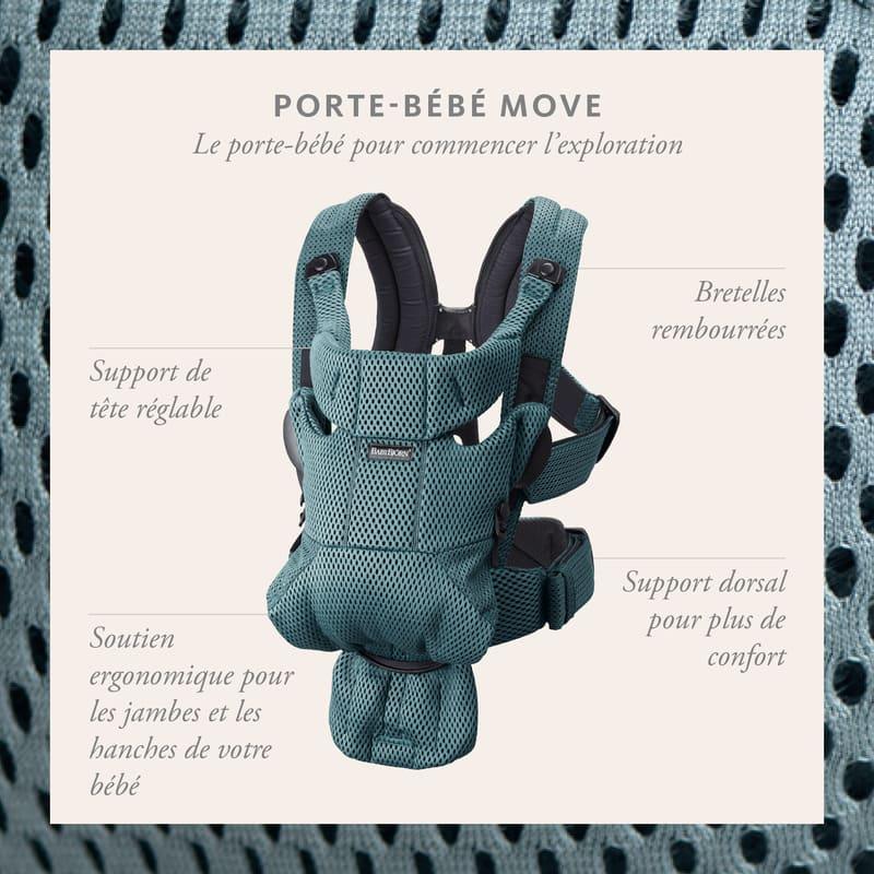Porte-bébé Move Mesh 3D Babybjorn infographie