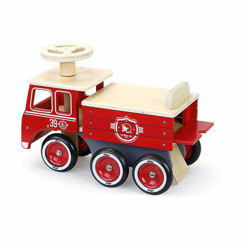 Porteur camion pompiers Vilac Dos
