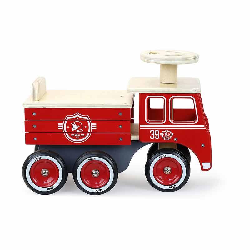 Porteur camion pompiers Vilac Profil