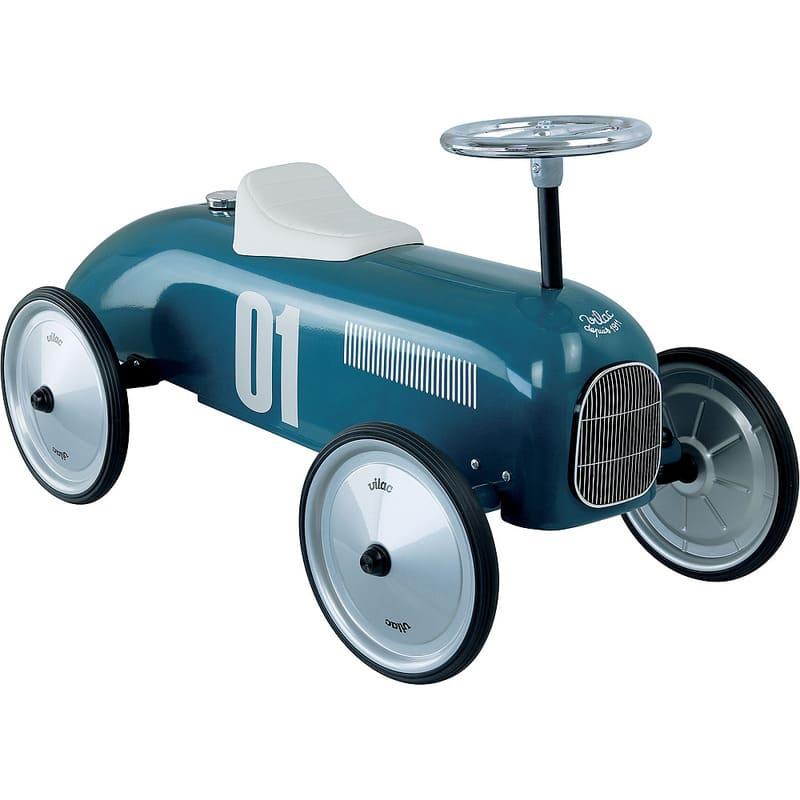Porteur voiture vintage bleu pétrole Vilac Guidon