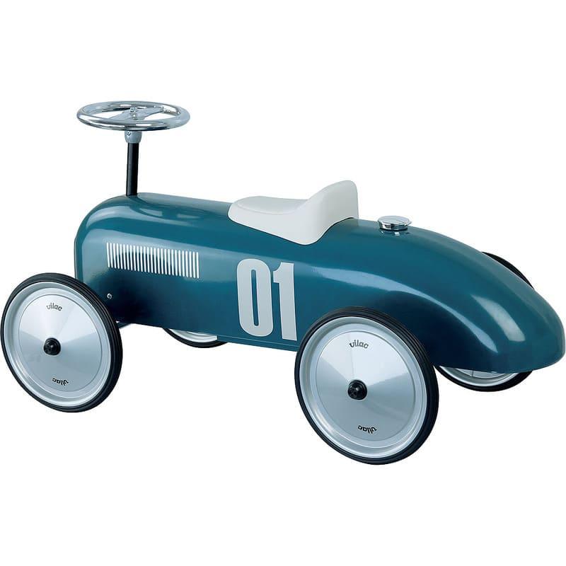 Porteur voiture vintage bleu pétrole Vilac Détail