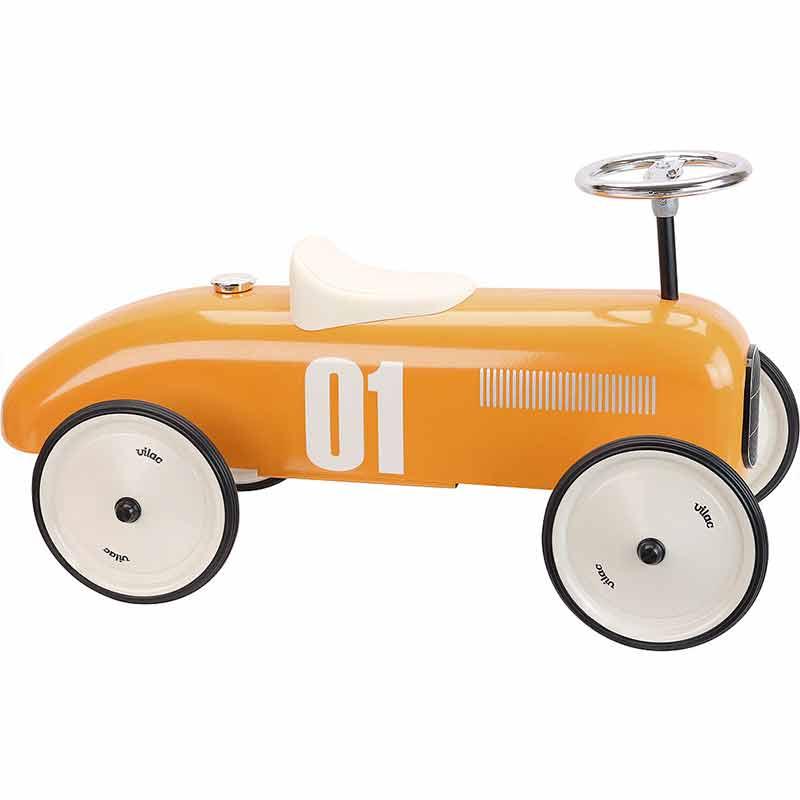 Porteur voiture vintage orange Vilac Profil