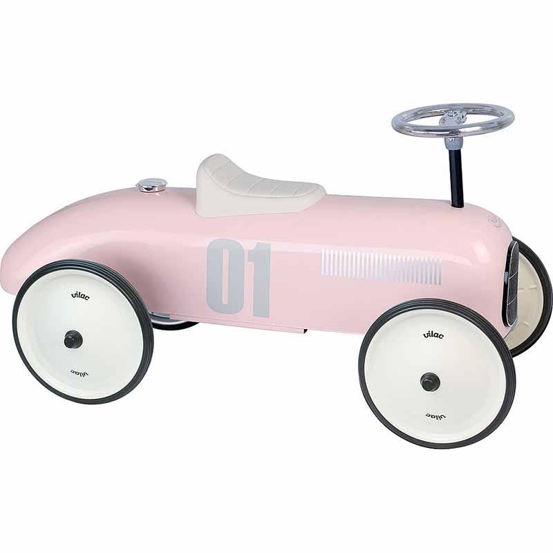 Porteur voiture vintage rose tendre Vilac