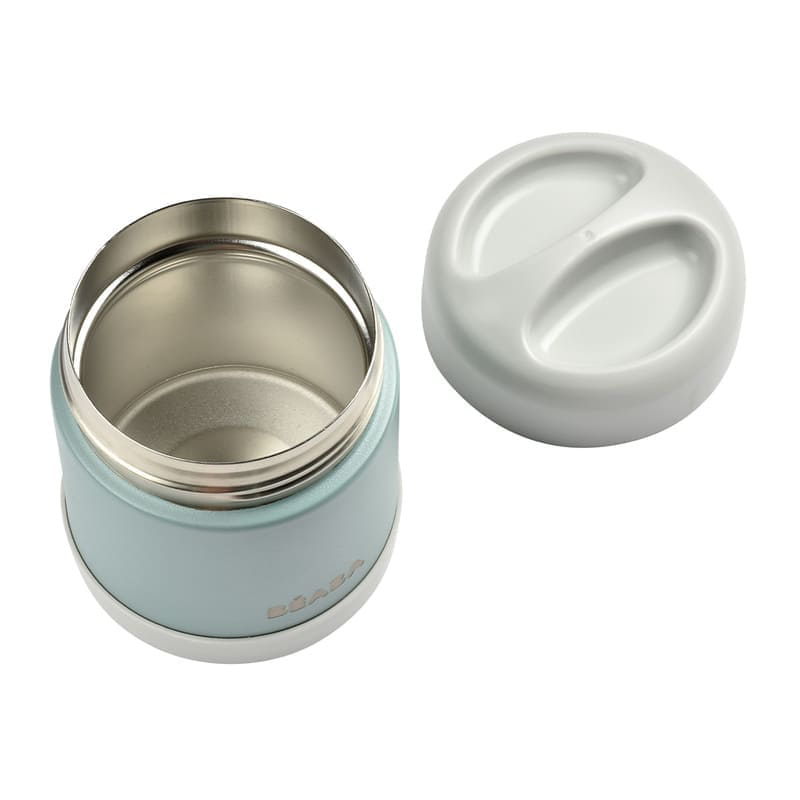 Portion inox isotherme 300 ml Béaba Couvercle Face