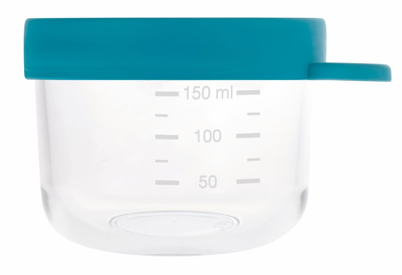 Pot de conservation en verre 150 ml Blue Béaba Détail