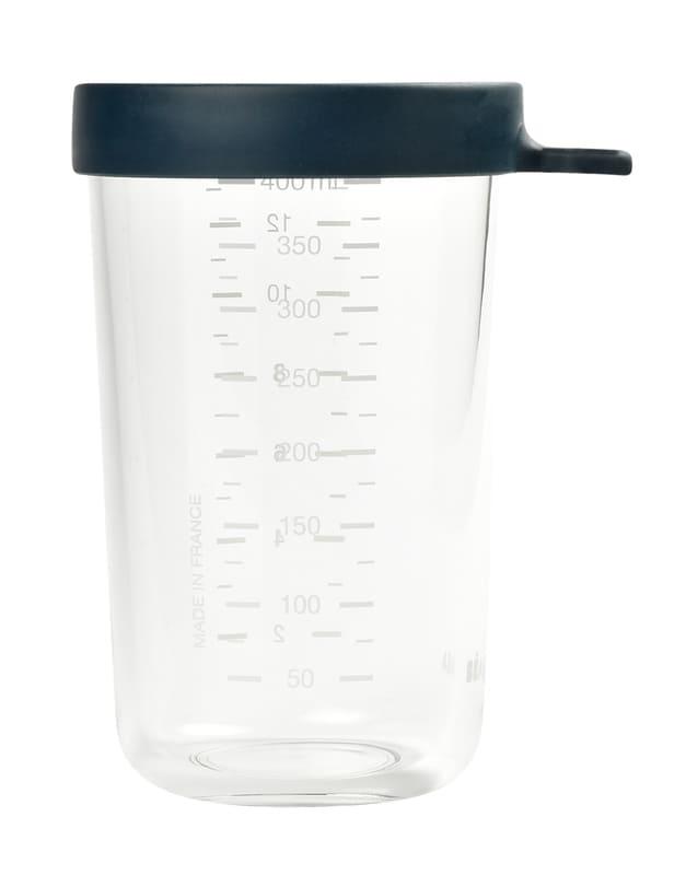 Pot de conservation en verre 400 ml Blue Béaba Détail