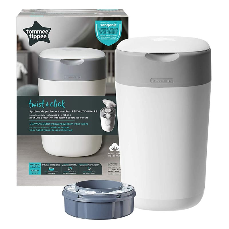 Poubelle à couches Twist & Click Tommee Tippee Packaging