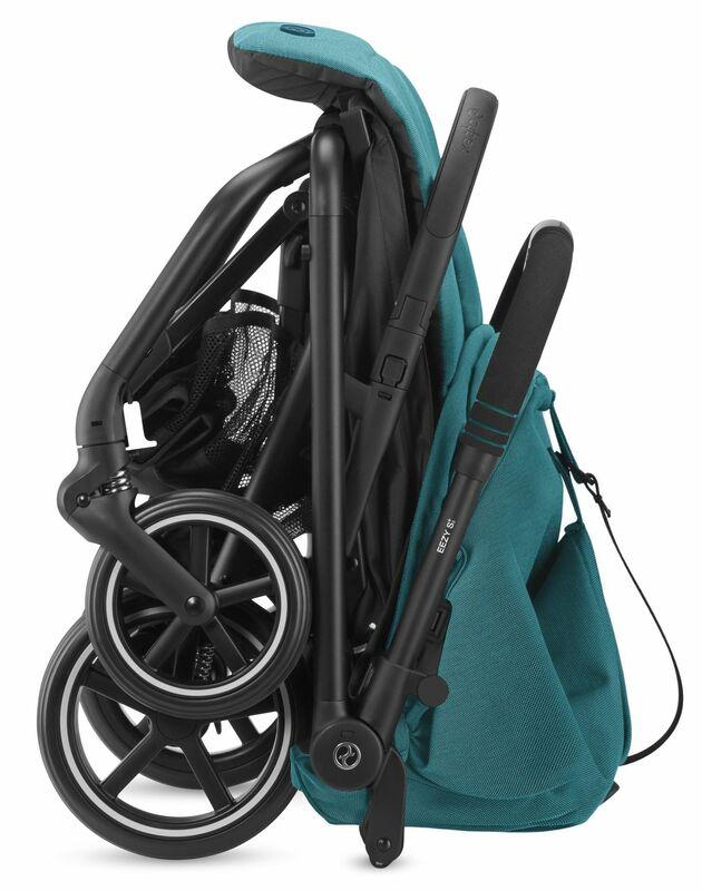 Pack poussette Eezy S Twist 2, siège-auto Aton 5 et adaptateurs Cybex Pliée