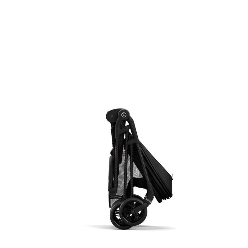 Poussette compacte Melio 2 Carbon Deep Black Cybex pliée