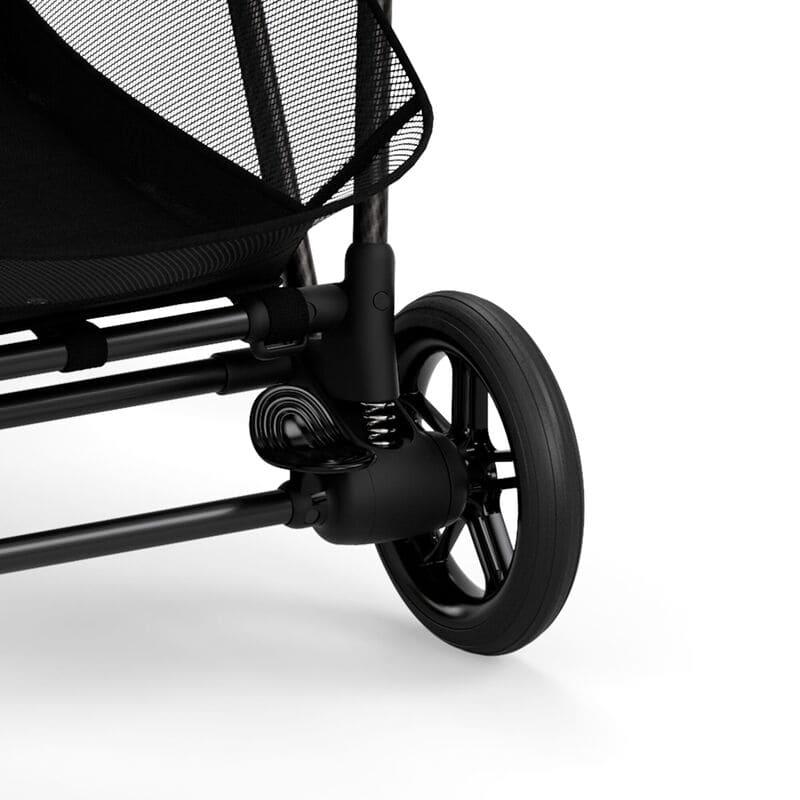 Poussette compacte Melio 2 Carbon Deep Black Cybex roue